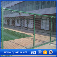 playground pvc coated used chain link fence for sale basketball fence China supplier