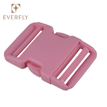Custom colorful quick release plastic color side release buckle for luggages