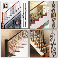 Factory directly exporting iron balustrade,iron hand-railing/decorative wrought iron indoor stair railings
