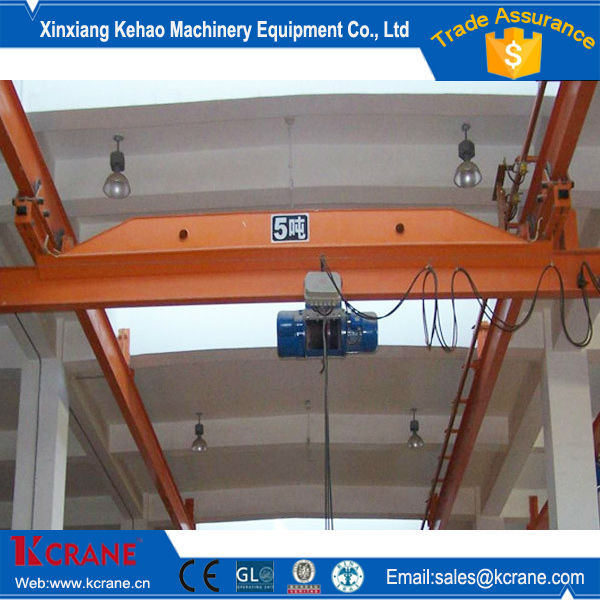 Single girder overhead crane 1.5 ton bridge automatic crane with hoisting mechanism