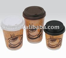4oz-22oz single wall paper coffee cup with lids