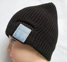 Knitted crocht knight helmet beanie hat/bluetooth winter hat