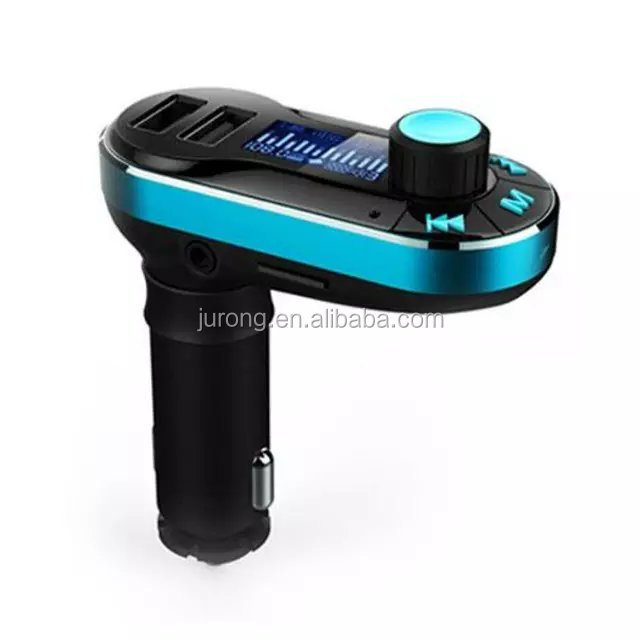 Bluetooth MP3 Player Handsfree Car Kit + Dual USB Charger + FM Transmitter with USB MP3 LCD Car Charger BT66