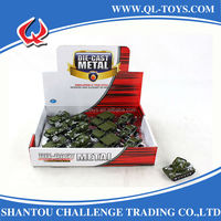 Die Cast Tank Model With Assorted Items