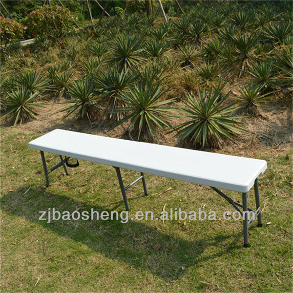 6FT Plastic Garden/Park Folding in Half Bench Camping/Picnic/Dining Foldable Bench
