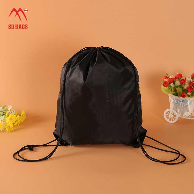 2019 Design fashion style no MOQ multi- color polyester drawstring bag, cinch bag, drawstring backpack