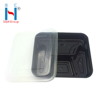 S&H Take Away Wholesale Japanese Disposable Square Plastic Food Container