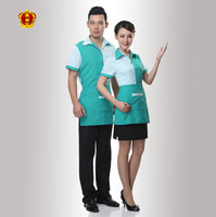 Polyester Cotton Material Work Uniform Style Restaurant And Bar Staff Uniform