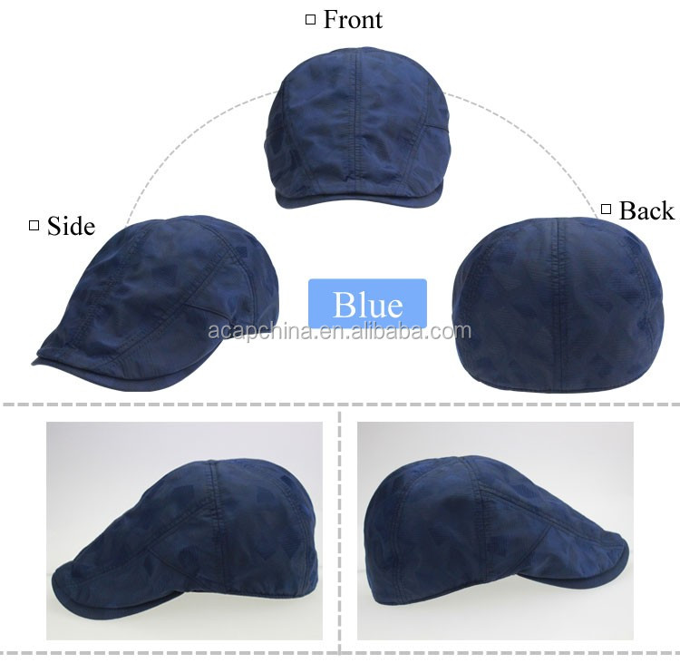 2016 New Arrival Brand Blue Waterproof Ivy Cap Newboy Hat Without Logo