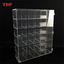 Custom 6 Tier Lockable Clear Acrylic Nail Polish Display Stand/Nail Polish Display Showcase