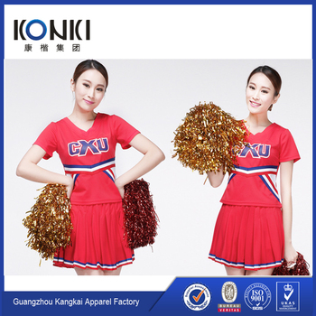 OEM Popular Supreme Quality Soft Wholesale Cheerleading Uniforms with Letter