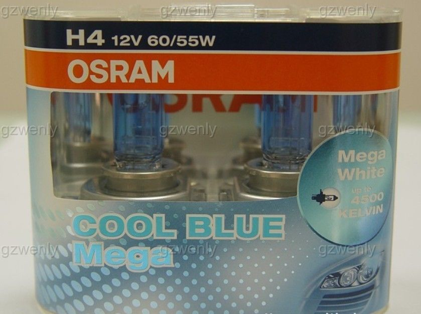 osram 62193CBM 12V 60/55W H4 P43t COOL BLUE Mega car lamp