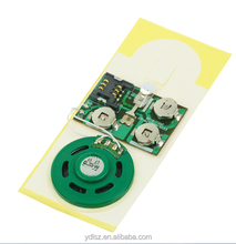 Pre-recording and Recordable Music Greeting Card Sound Module/Voice Ic Chip