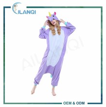 ALQ-A046 Cosplay thermal polar fleece hooded adult animal jumpsuit
