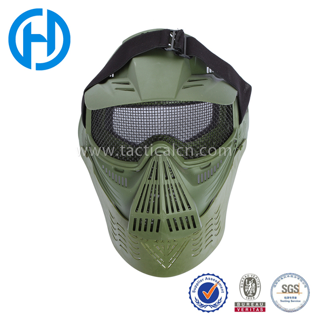 full face plastic and steel protective airsoft masks army training mask