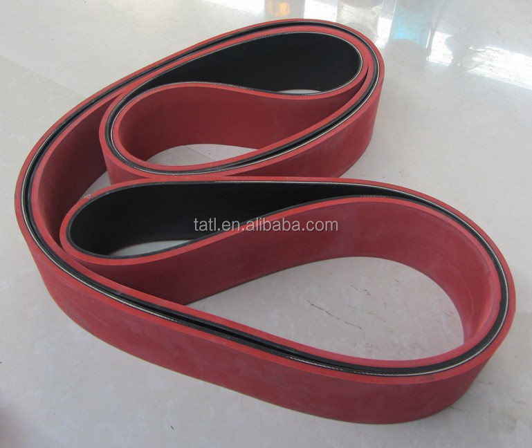 Endless flat rubber belt