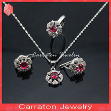 Crystal Costume Jewellery, Gold Plated Silver Jewelry Sets Supplier