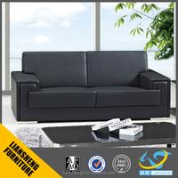 2017 modern design 1+1+3 black italian office leather sofa set office sofa furniture