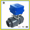 2-way DC24V 65mm 2 way PVC UPVC CPVC Double Union motorized ball valve 220V with manual override
