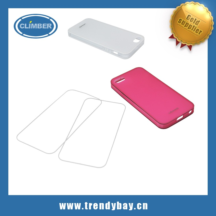 High quality Usams brand X-match series jelly pc+tpu case for iphone5