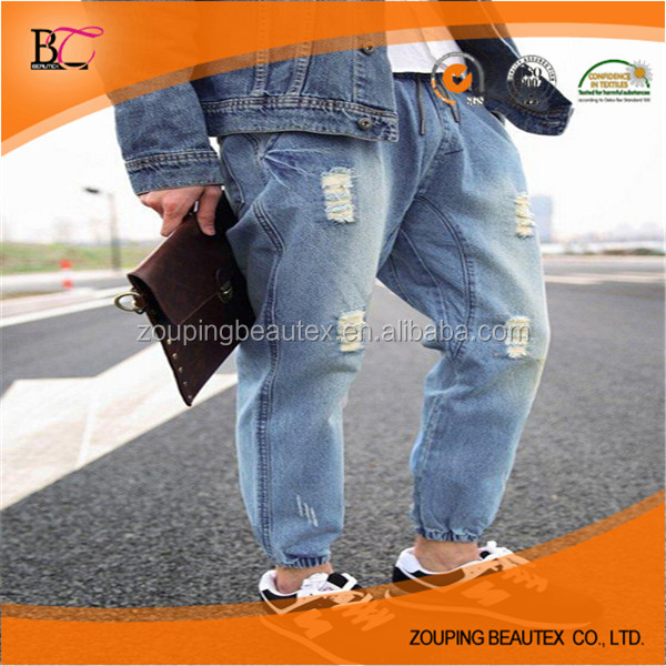 New pattern jogger jeans pants models for men in stock