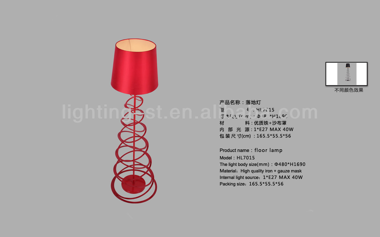 red floor lamp pictures
