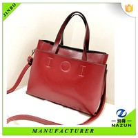 2016 latest Double layer insulation red new product leather lady college bag
