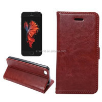 crazy horse sythetic leather wallet phone case