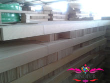 Various raw material wood slat bed frame
