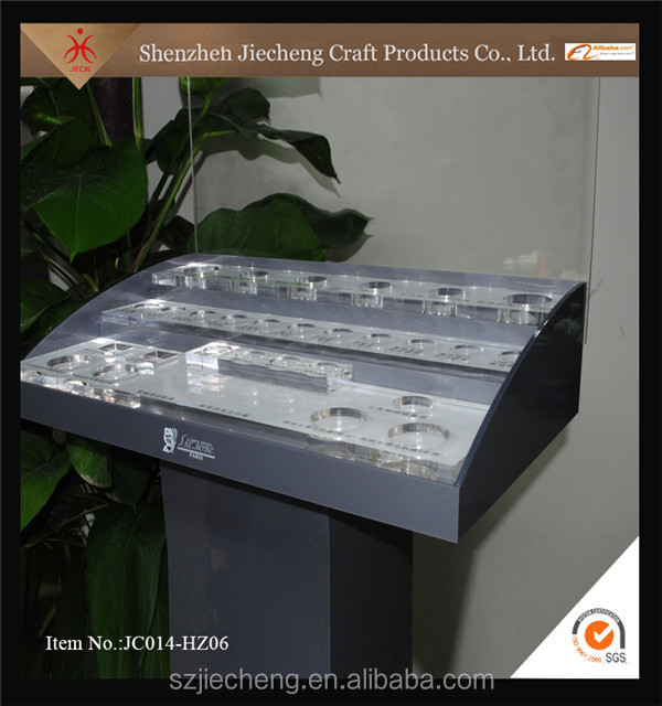 2016 new design wholesale acrylic nails polish cosmetic display rack unit counter