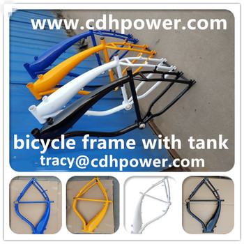 Alum tank frame for motorized bicycle/use for 2 stroke and 4 stroke engine