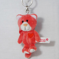 Cheap wholesale custom soft plush mini teddy bear toy keychain