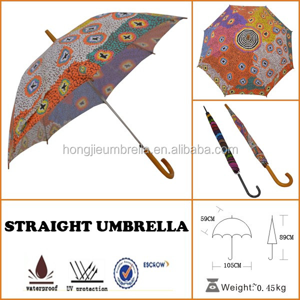 professional customized design outdoor bar photo flower straight umbrella