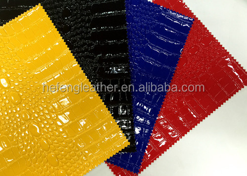 Pvc Shining Skin Vaccum Leather Of Pvc Synthetic Leather/Aritifical Leathe For Bags And Shoes