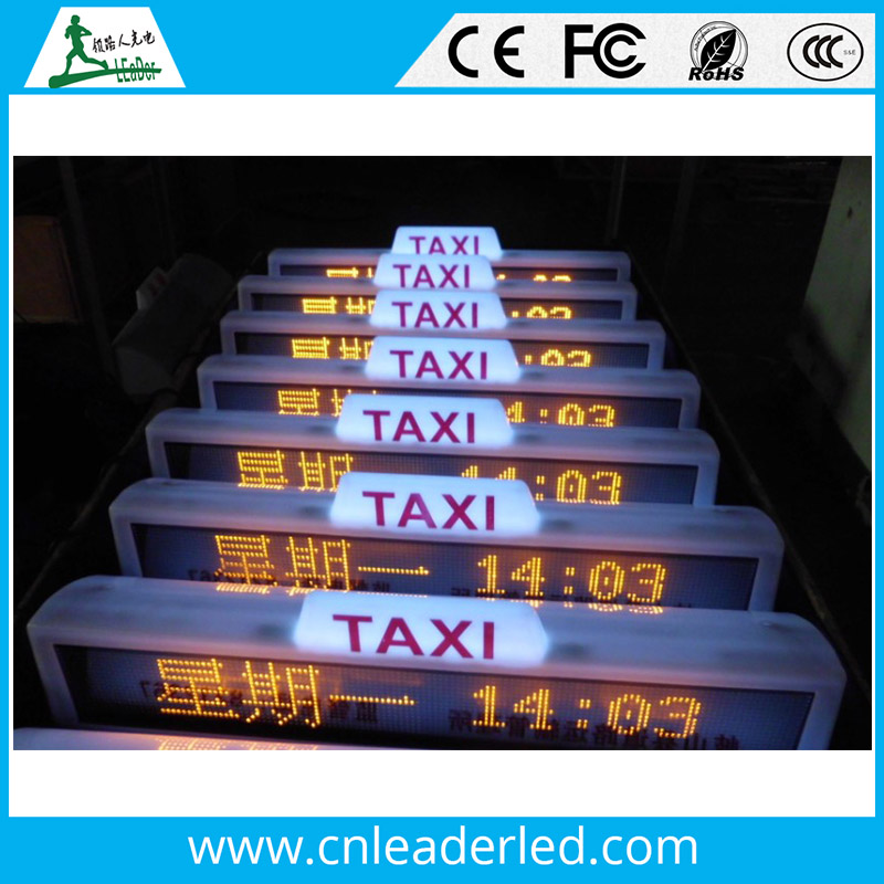 Shenzhen Leader taxi top led display advertising Car/Bus/Truck china price video screen