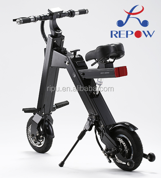 2016 new mini adults tricycle cheap foldable lithium electric scooter/electric bike RPD210A foldable 2 wheel pocket bike