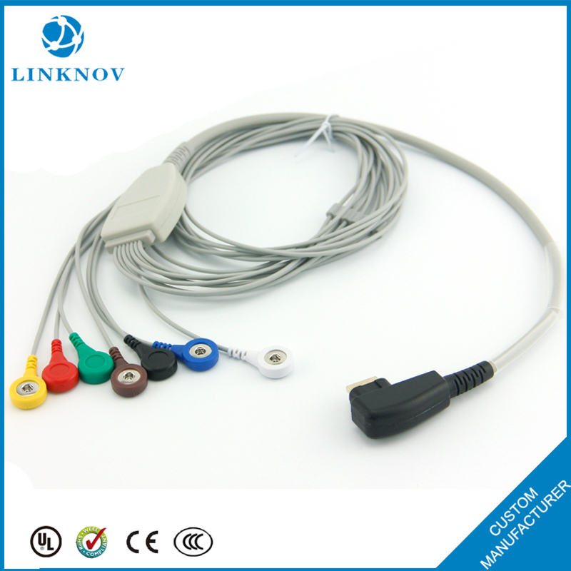 Compatible DMS 300 With Snap Type Holter 7Lead ECG Cable