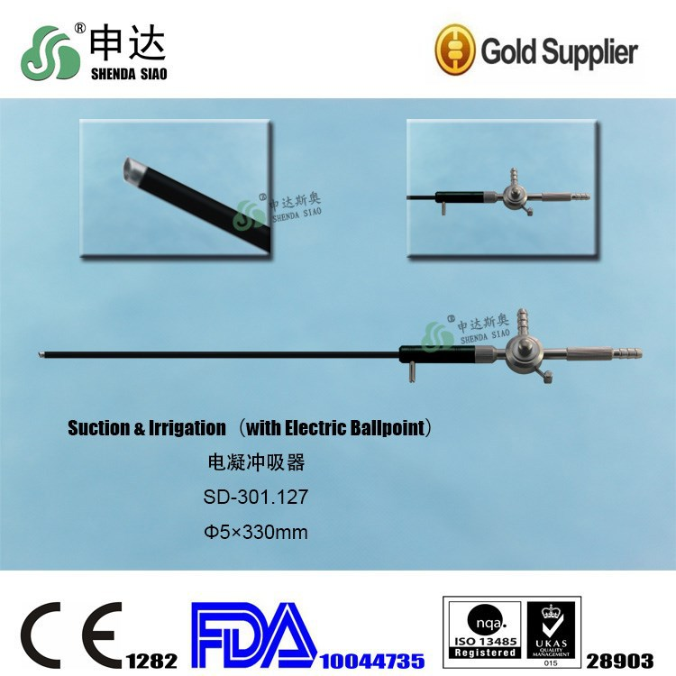 China Tube For Laparoscopic Surgery Medical Apparatus And Instruments Suction & Irrigation (with Electric Ballpoint)
