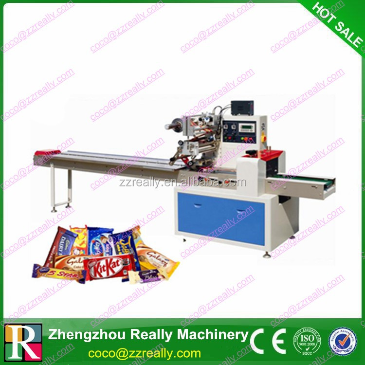 RE-450 automatic cooky biscuit chocolate foil wrapping machine