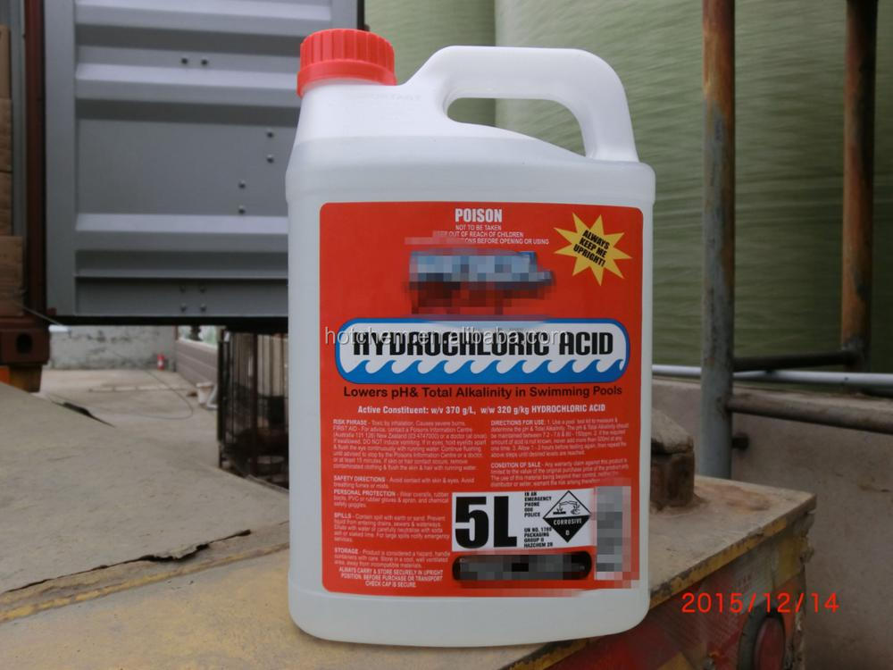 Hydrochloric Acid for swimming pool water treatment