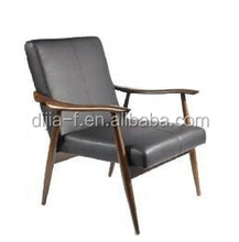 Solid Wood Legs Sponge seat wooden rest Living Room Chairs