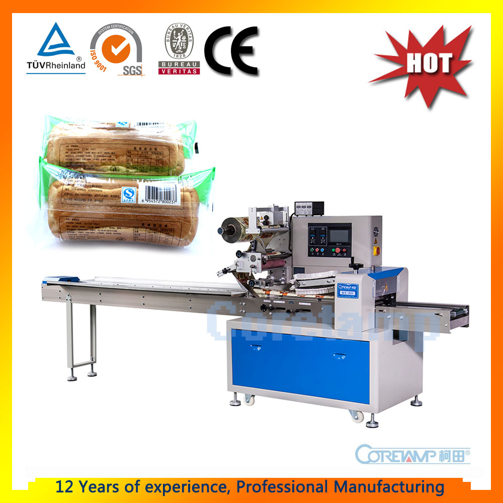KT-400 Automatic Horizontal Flow Pack Loaf Bread Packing Machine
