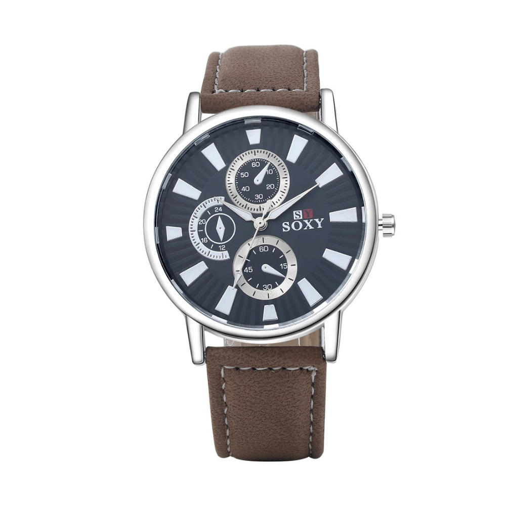 SJWH0048H SJ Famous Brand Watches Men 2016 Wristwatch Leather Watch Strap Antique Quartz Watch