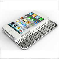 Multi-function Ultra thin detachable bluetooth keyboard case for Apple iPhone 5, P-IPH5BLUEKB0012