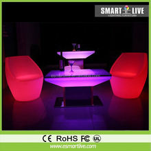 led light bar table/party tables and chairs for sale