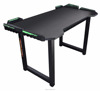 New design office furniture black touch pad 4 ports hubs LED RGB steel iron gamer gaming desk table for gamer