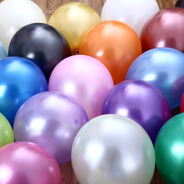 100pcs/lot 12 inch Latex Balloons Thickening Pearl Celebration Helium balloon Birthday decoracio globos Wedding  Party supplies
