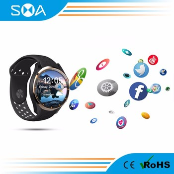 SMA-S3 Android 5.1Smart Watch MTK6580 Solution 1.39 Amoled Screen support WIFI/ 3G / SIM card / GPS android smart watch