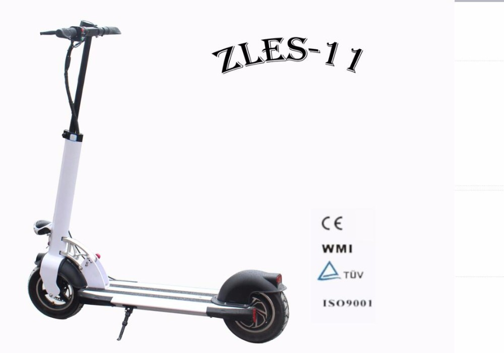 Aluminum alloy frame folding 2 wheels 350W brushless motor scooter electric