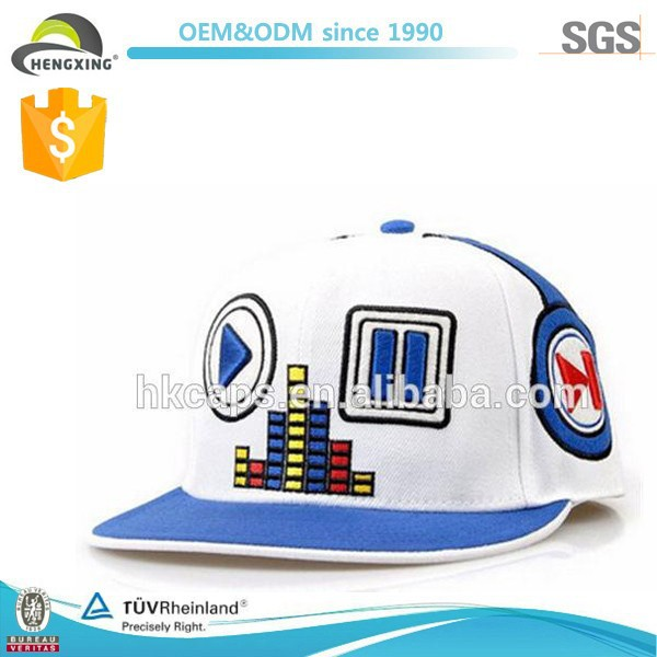 Men Women Hip Hop Embroideried Music Player Custom Snapback Cap